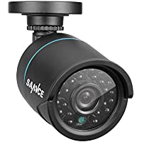 SANNCE Security Camera 720P HD-TVI 1.0MP Hi-Resolution Bullet Camera with 1/4 Color CMOS Sensor, 24 LED Black Infrared Light, IP66 Waterproof Fixed Surveillance Camera