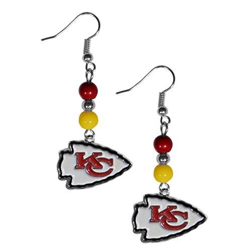 Siskiyou NFL Kansas City Chiefs Fan Bead Dangle Earrings