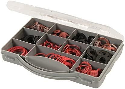 Fixman 386124 Assorted Fibre /& Rubber Plumbing Washers 280-piece Set Pack