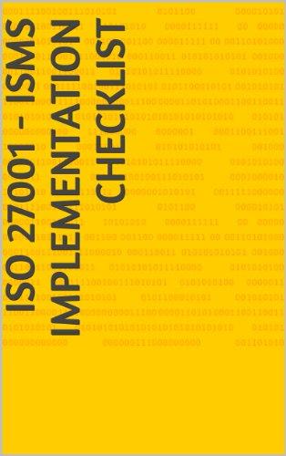 Amazon iso 27001 isms implementation checklist ebook sonam iso 27001 isms implementation checklist by agarwal sonam fandeluxe Choice Image