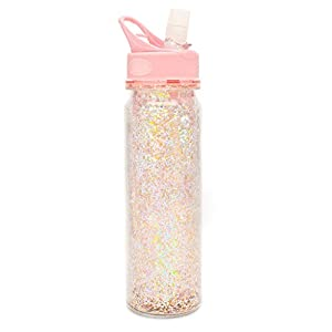 ban.do Glitter Bomb Pink Stardust Water Bottle, Multicolor