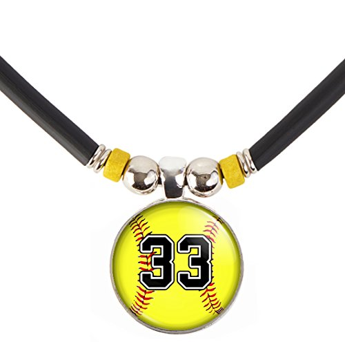SpotlightJewels Personalized Softball Necklace with Jersey Number, PERSONALIZE BY EMAIL