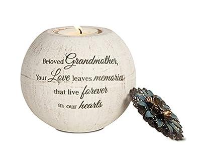Pavilion Gift Company 19092 Beloved Grandmother Terra Cotta Candle Holder, 4-Inch