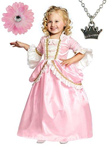 Parisian Princess Dress with Wondercharms Necklace - X-LARGE (7-9)
