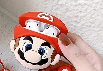 Funda AirPods Silicona Mario Bros Compatible con Apple AirPods Divertida Graciosa Juvenil Moda Extra protección Dibujos: Amazon.es: Electrónica