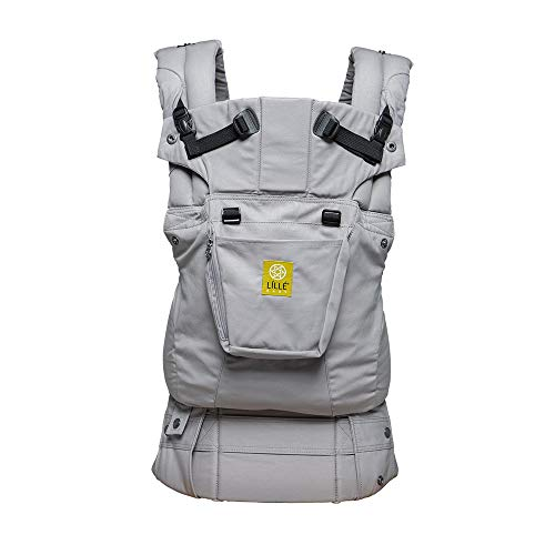 LÍLLÉbaby The Complete Original SIX-Position 360° Ergonomic Baby & Child Carrier, Grey - Cotton Baby Carrier, Comfortable and Ergonomic, Multi-Position Carrying for Infants Babies Toddlers (Best Rated Infant Carriers)