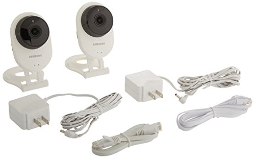Samsung SNH-E6413BMR SmartCam HD WiFi IP Camera with 16GB microSD Card Bundle...