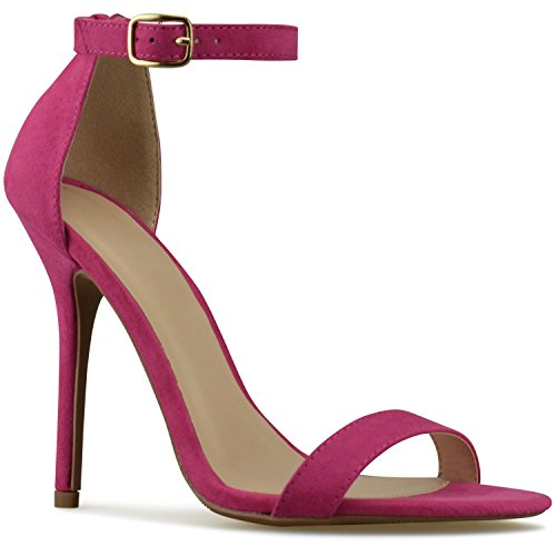 Simple Women's Standard Kitten Classic Strappy High Party Heel Wedding Formal Al Fuchsia Premier Pump 5zwgq5