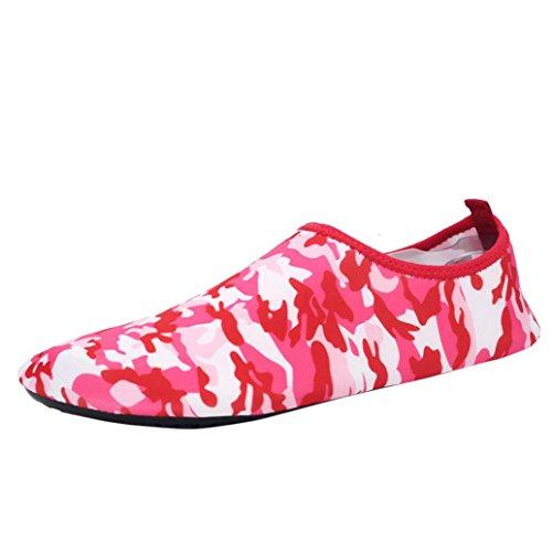 VEMOW Sports Outdoor Shoes for Women, Trainers Flats Flip Flops Espadrilles Wedge Running Walking, Men Women Yoga Surf Outdoor Water Sport Diving Swim Beach Snorkeling Socks Couple Shoes C