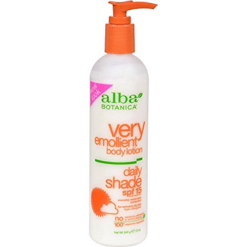 Sun Daily Body Lotion - Alba Botanica Very Emollient Daily Shade Body Lotion Spf 15 12 Fl Oz