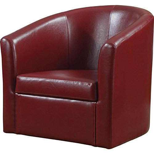 Accent Swivel Chair Red (Red Leather Contemporary Chair)