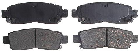 ACDelco 14D883CH Advantage Ceramic Rear Disc Brake Pad Set with Hardware (2004 Gmc Envoy Brakes)