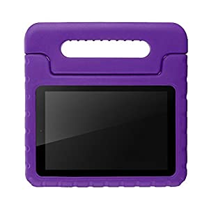 BLUEWIND All New Fire 7 2017 Case, Protective Kids Case for Fire 7 2017 Tablet (7th Generation, 2017 Release) Light Weight Shock Proof with Handle Stand Kids Case Cover for Fire 7 2017 Tablet,Purple
