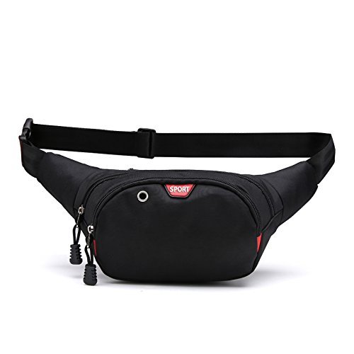 Waist Fanny pack, Idea for Cycling, Walking, Hiking, Traveling Fitness, Outdoor Sports Cashier's box Tool Kit With Quick Release Buckle - Black by HQzon