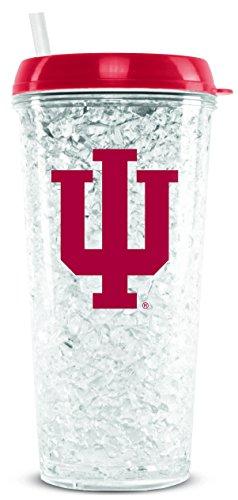 NCAA Indiana Hoosiers 16oz Crystal Freezer Tumbler with Lid and Straw