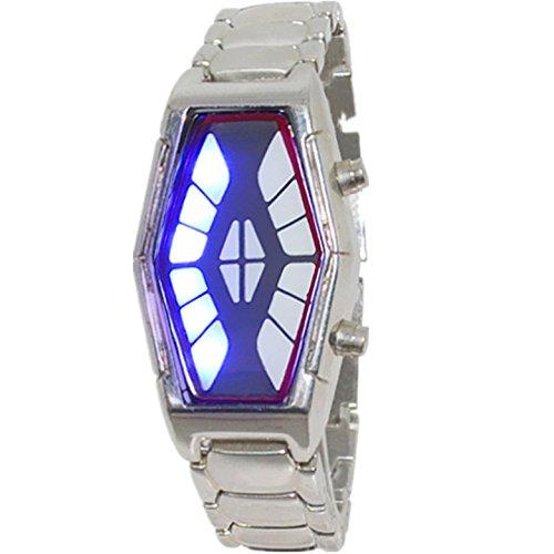 OSS®LED Moda Watch / contrabandistas relojes retro masculinos para hombres-Plata: Amazon.es: Relojes