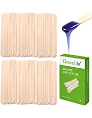 GreenLife® Professional Spa Quality Wax Applicator Spatula Large Sticks For Hair Removal 6'' Long (Green Box, 100 Pcs)