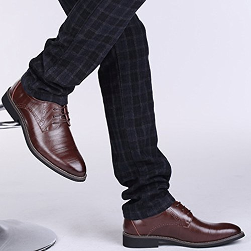 Darkbrown Travail à Chaussures Lacets Mode Rétro Parti Chaussures Printemps Hommes Robe pour Affaires De xxqwOHgB