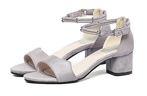 MEILI Sra. Grueso y sandalias huecas de metal 1