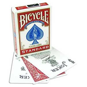 Rock Ridge Bicycle Svengali Deck - 2 Red Decks - Different Force (Invisible Deck Bicycle)