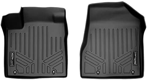 SMARTLINER Custom Fit Floor Mats 1st Row Liner Set Black for 2015-2021 Nissan Murano