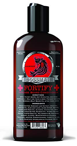 Bossman Fortify Intense Beard Conditioner to Grow, Thicken, Moisturize and Protect Your Beard (Hammer) (Best Way To Moisturize Beard)