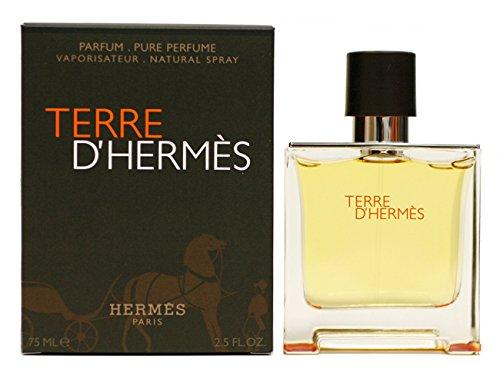 Terre D' Hermes de Hermes pour les hommes. Parfum Spray 2.5 Oz/75 Ml