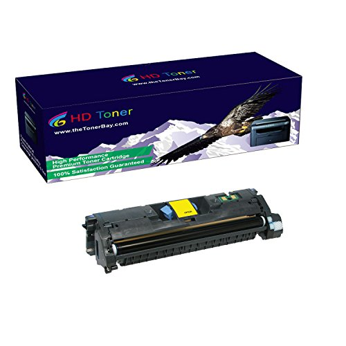 HD Toner TM Compatible 1 Pack C9702A Yellow Toner Cartridges For HP Color LaserJet 1500, 1500L, High Yield 4000 Pages (Yellow Cartridge C9702a)