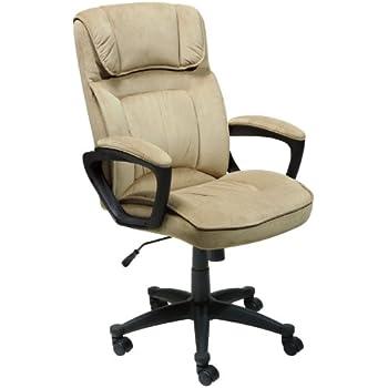 Serta Executive Office Chair, Microfiber, Light Beige