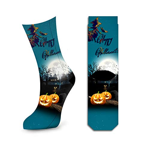 Happy Halloween Costume Socks For Women, Comfy Fashion Stylish Crazy Party Socks by Samui ()