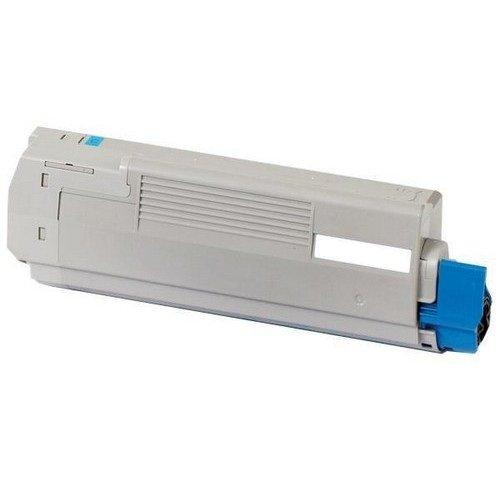 INKUTEN Okidata C6100 Series/C5550n MFP Replacement 43324419 Cyan Laser Toner (43324419 Laser)