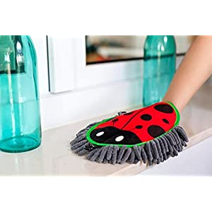 Vigar Ladybug Microfibre Mitt Duster, 9-3/4-Inches by 1-1/4-Inches by 10-1/4-Inches, Multi Colored