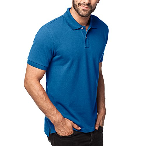 Lapasa Men's Polo 100% Cotton Classic Fit Pique Mesh Short Sleeve Original Shirt M19 (Medium, (Mens 100 Pique Polo)
