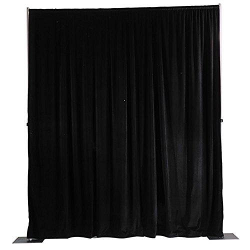 Da-Lite School Office Projector Accessories Ultra Velour Pipe and Drapery Background System Black 4' x - Cotton Drapery Velour Panels