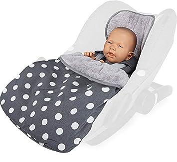 Design:polka anthra Fu/ßsack 2in1 f/ür Babyschale//Leichter Universal Fu/ßsack und Einschlagdecke f/ür Babyschale//Babydecke f/ür Babyschale Priebes Cosybag STELLA