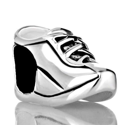 (Pugster 925 Sterling Silver Sports Shoes Jewelry Gift Beads Fits Pandora Charm Bracelet)