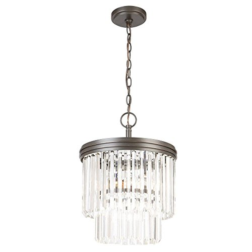 Light 2 Tier Crystal Chandelier - 4