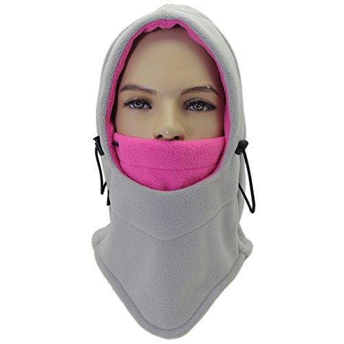 Miracu Lightweight Balaclava Windproof Ski Face Mask for Men, Women and Children, Soft Warm Fleece Ear Flap Winter Hat/Hood for Outdoor Sports