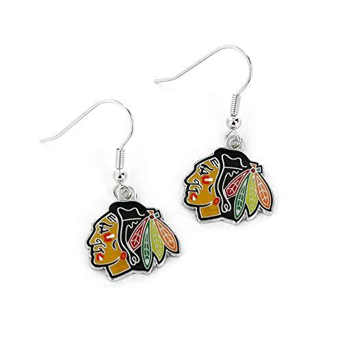 - NHL Chicago Blackhawks Logo Dangler Earrings