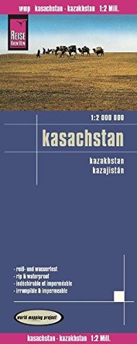 Reise Know-How Landkarte Kasachstan (1:2.000.000): world mapping project