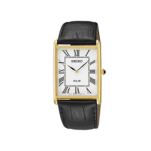 Seiko Men's Leather Strap Dress Solar Watch by Seiko