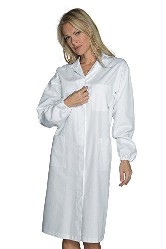 S Isacco Camice Donna Antinfortunistico Bianco Bianco 100/% Cotone