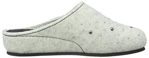 TOFEE Damen 74-101 Nieten Pantoffeln Weiß (Weiß)
