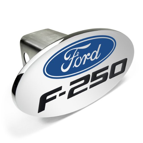 Ford F-250 Metal Chrome Trailer Tow Hitch Cover with Locking