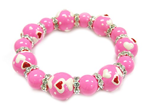 Linpeng Fiona 3D Hand Painted Glass Beads Bracelet in Gift Bag _BR-1181A