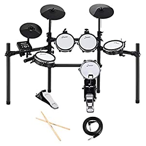Donner DED-200 Electric Drum Set Electronic Kit with 5 Drums 3 Cymbals, Electric Drum, Audio Line, Drum Stick Drum Sets