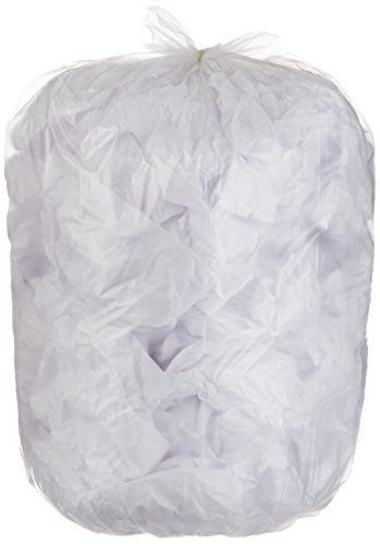 AmazonBasics 23 Gallon Slim Trash Can Liner, 1.6 mil, Clear, 250-Count