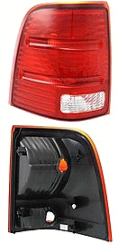 Discount Starter and Alternator FO2800159 Replacement Taillight Fits Ford Explorer Driver Side Plastic Lens Without Bulbs ()