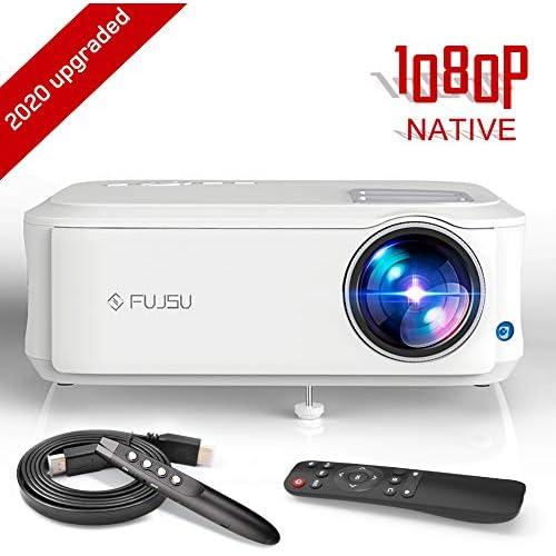 Proyector FUJSU 6500 Lúmenes Proyector Full HD 1920 x 1080P Nativo Proyector Cine en Casa Soporta 4K Sonido Hi Fi Proyector LED 78000 Horas Bajo Ruido Video Fluido PS4 HDMI USB VGA AV