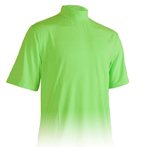Monterey Club Mens Dry Swing Classic Pique Mock Neck Shirt #3303 (Sap Green, X-Large) Dri Fit Mock Neck Shirt